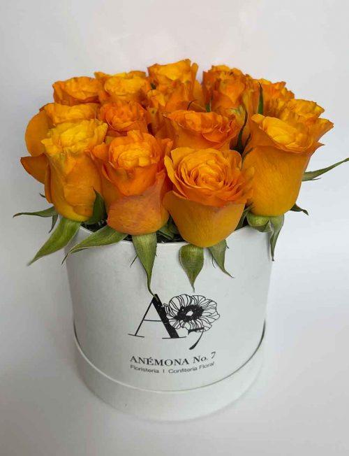 arreglo rosas naranja